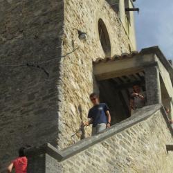 Le Barroux castle, entrance of the chapel