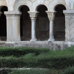cloister seen from the garden