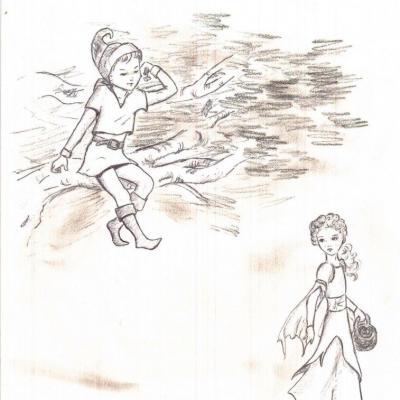 Deux enfants dans la forêt