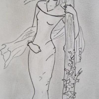 Jeune fille à la robe blanche