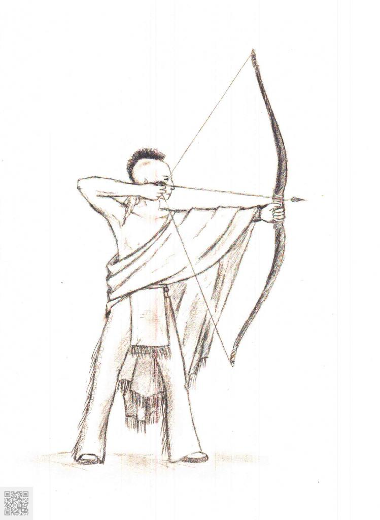 Indian shooting with a bow