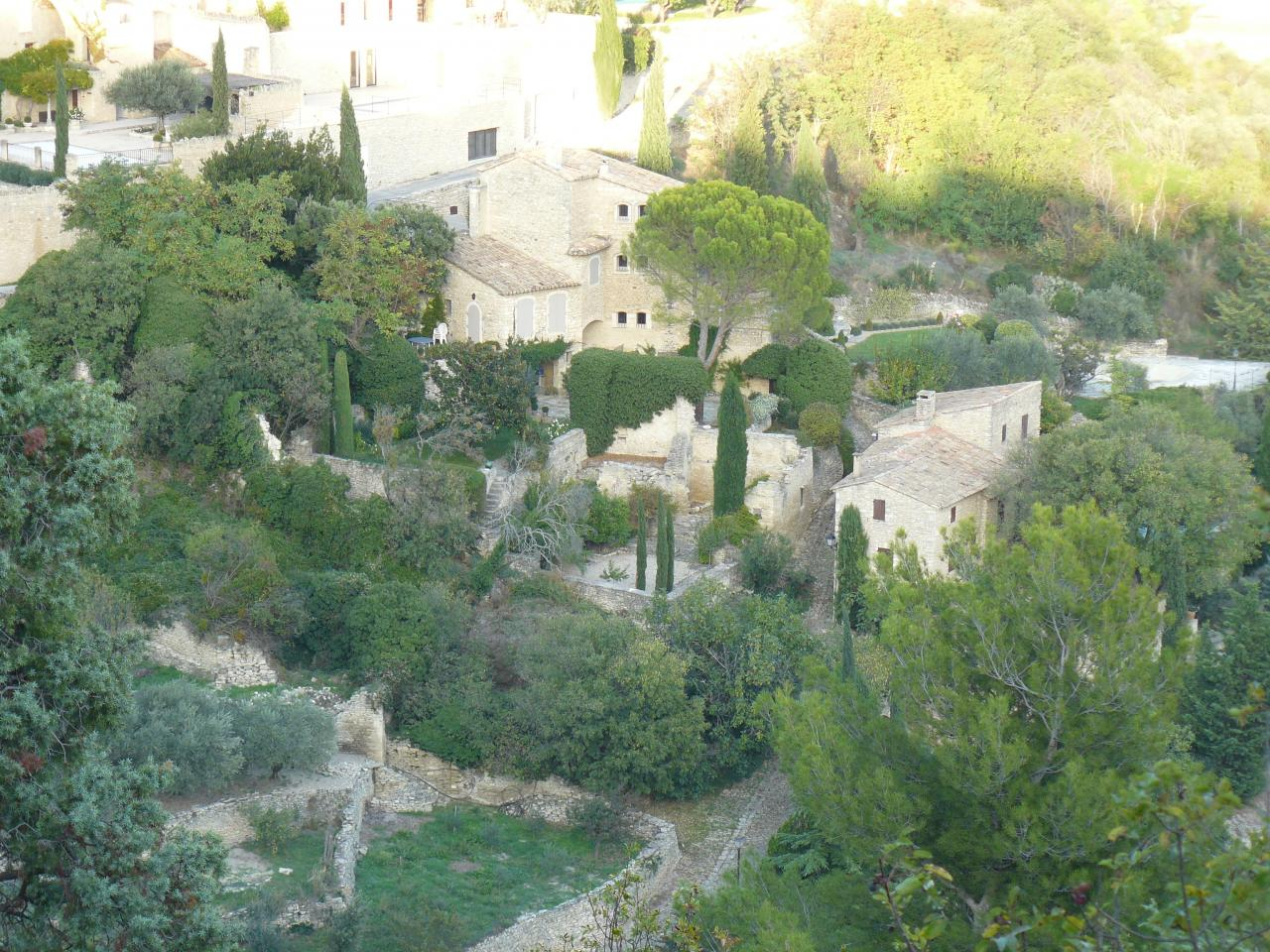 Overlook on the houses, Gordes