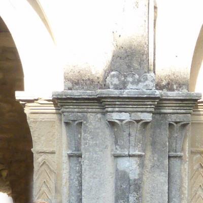 pillars at the entrance of the garden
