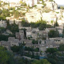 Gordes downtown in sunset