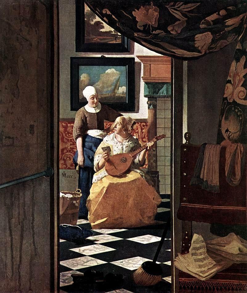 La lettre d'amour, Vermeer