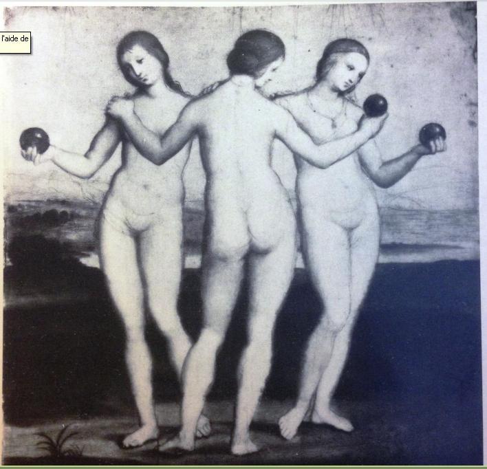 Infrarouge révélant le dessin de Raphaël