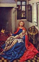 Maître de Flémalle, Vierge à l'Enfant, 1433-35, huile sur bois, 34,3 x 24,5 cm, Saint-Pétersbourg, Musée de l'Ermitage