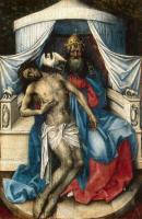 Maître de Flémalle, Trinité, 1433-35, huile sur bois, 34,3 x 24,5 cm, Saint-Pétersbourg, Musée de l'Ermitage